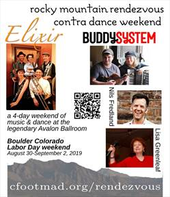 picture where Contra Dancing in Boulder event CFOOTMAD Rocky Mtn Rendezvous Contra Weekend is happening